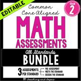 2nd Grade Common Core Math Assessment - BUNDLE
