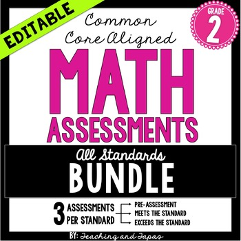 2nd Grade Common Core Math Assessment - BUNDLE