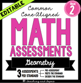 2nd Grade Common Core Math Assessment - Geometry