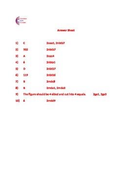 2nd Grade Common Core Math Assessment SHORT Form B (10 Questions) Second Grade