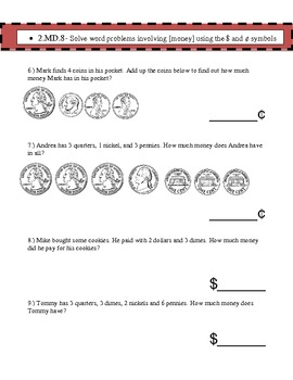 2nd Grade Common Core Math Assessment- Winter