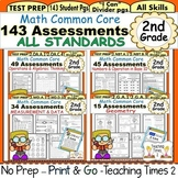 2nd Grade Common Core Math Assessments (160 STUDENT PAGES)