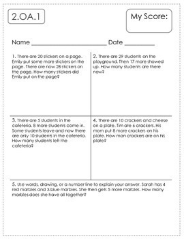 2nd Grade Math Assessments {Pre and Post Tests}