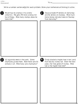 2nd Grade Common Core Math-Assessments ONLY Collection