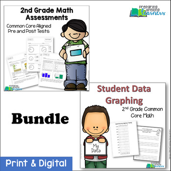 2nd Grade Common Core Math Assessments & Student Data Graphing {Bundle}