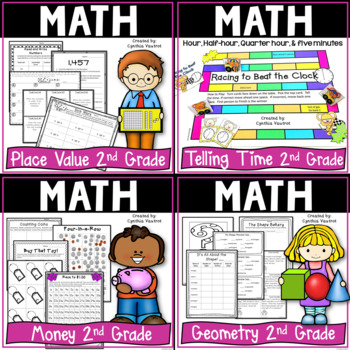 2nd Grade Common Core Math Bundle