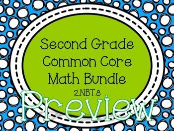2nd Grade Common Core Math Bundle - 2.NBT.8
