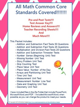 2nd Grade Common Core Math Bundle- All Standards