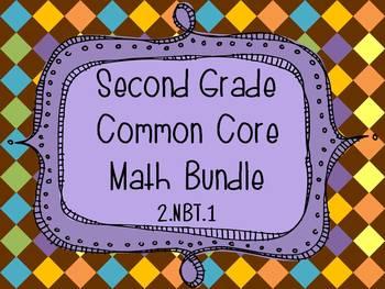 2nd Grade Common Core Math Bundle FREEBIE - 2.NBT.1