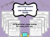 2nd Grade Common Core Math: Choice Board & Self-Assessment Bundle