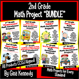 2nd Grade Math Projects, Enrichment for the Entire Year! PDF or Digital Option!