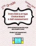 2nd Grade Common Core Math: Even/Odd & Arrays Choice Board