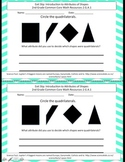 2nd Grade Exit Slip Common Core Math Geometry