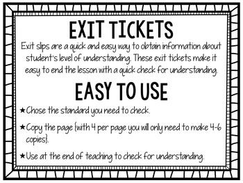2nd Grade Common Core Math Exit Tickets