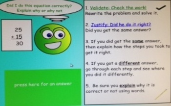 2nd Grade Common Core 2 Digit + Math Validate, Justify Equations SMARTBoard