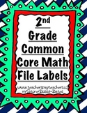 2nd Grade Common Core Math File Labels