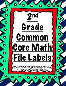 2nd Grade Common Core Math File Labels