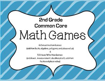 2nd Grade Common Core Math Games, Place Value,Polygons,Fac