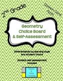 2nd Grade Common Core Math: Geometry Choice Board & Self-A