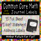 "2nd Grade Common Core Math ""I Can"" Journal Labels"