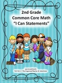 "2nd Grade Common Core Math ""I Can Statements"""