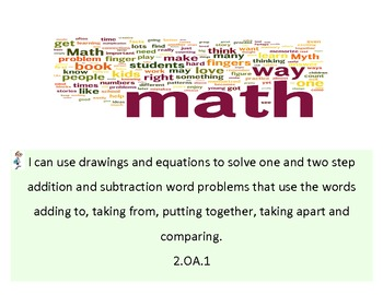 """2nd Grade Common Core Math """"I Can"""" Statements"""