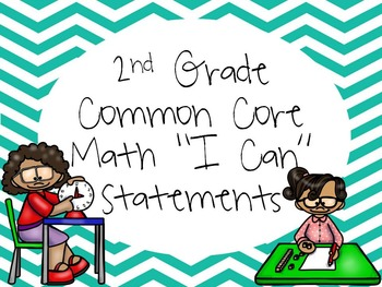 "2nd Grade Common Core Math ""I Can"" Statements"