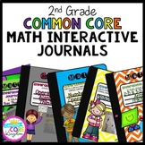 2nd Grade Math Interactive Journal Bundle- All Common Core Standards