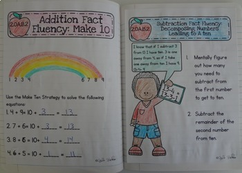 2nd Grade Math Interactive Journal Bundle- All Common Core Standards