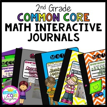 2nd Grade Math Interactive Journal Bundle- All Common Core