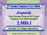 2nd Grade Common Core Math Jeopardy Game - 2 MD.1 Measure and Estimate Lengths