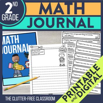 2nd Grade Math Journal Prompts | Math Journals | 2nd Grade Math Centers | CCSS