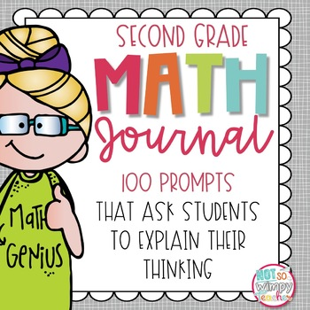 Distance Learning Word Problem Math Journal for Second Grade *EDITABLE*