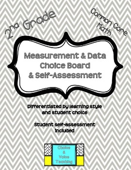 2nd Grade Common Core Math: Measurement & Data Choice Board & Self-Assessment