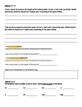2nd Grade Common Core Math Mid-Year Assessment