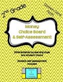 2nd Grade Common Core Math: Money Choice Board & Self-Assessment