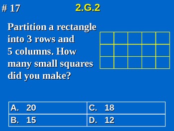 2nd Grade Common Core Math Partition a Rectangle Into Rows and Columns 2.G.2