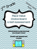 2nd Grade Common Core Math: Place Value Choice Board & Sel