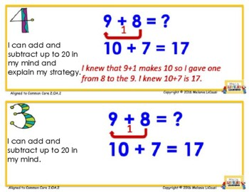 2nd Grade Math Posters with Marzano Scales - Aligned to Common Core