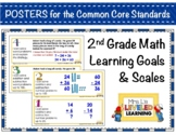 2nd Grade Math Posters with Marzano Scales - Aligned to Co