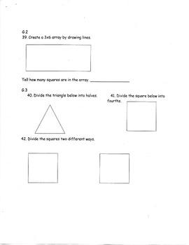 2nd Grade Common Core Math Pre/Post Test