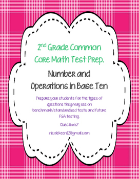 2nd Grade Common Core Math Prep. - Number & Operations in Base Ten