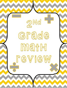 2nd Grade Common Core Math Review Task Cards