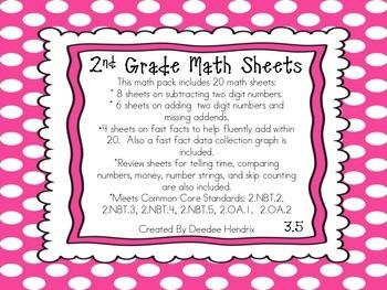 2nd Grade Common Core Math Sheets 3.5