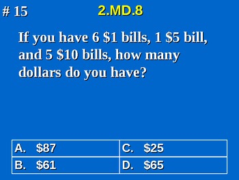 2nd Grade Common Core Math Solve Money Word Problems 2.MD.8