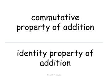 2nd Grade Common Core Math Standards--Black Font