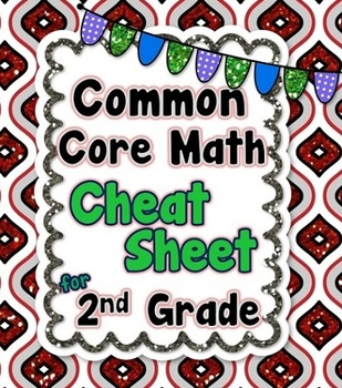 2nd Grade Common Core Math Cheat Sheet