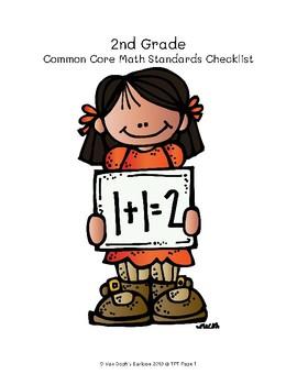 2nd Grade Common Core Math Standards Checklist