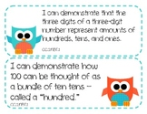 """2nd Grade Common Core Math Standards -  """"I Can"""" Statements (OWL THEME)"""