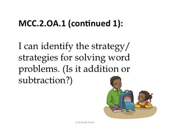 2nd Grade Common Core Math Standards for Posting--Kid Friendly Language